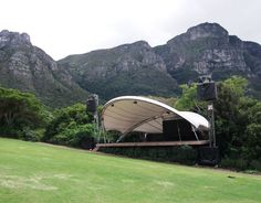 This has to be one of the most beautiful concert venues in the world. Kirstenbosch Botanical Gardens, Cape Town, South Africa.