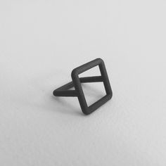 FORM ZS Ring Dimensions: 22mm W x 22mm H x 22mm D Matte Black Stainless Steel $130 USD add to cart This item is made to order. You will be able to specify your ring size during the check out process. Additional images of this item: - @saphorshop