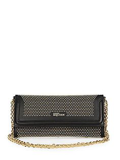 Alexander McQueen Studded Leather Wallet with Chain