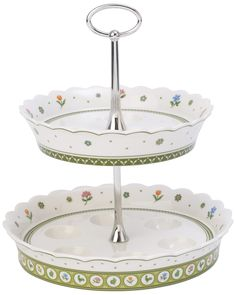 "Spotted this Villeroy & Boch ""Farmers Spring"" 2-Tier Stand on Rue La La. Shop (quickly!)."
