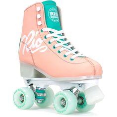 Patine cu rotile Rio Roller Script Peach/Green in shop now Adult Roller Skates, Retro Roller Skates, Roller Skate Shoes, Quad Roller Skates, Roller Skating, Roller Derby Girls, Roller Disco, Roller Quad, Rio Roller
