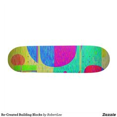 Re-Created Building Blocks Skate Deck #Robert #S. #Lee #skateboard #board #decks #skater #design #colors #customizable #re-created