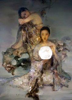 Hu Jun Di 中国画家 - 守着肉骨头的狗 - 坚守着守望的博客