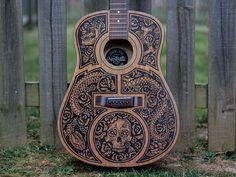 Acoustic Guitar - Sharpie Art