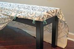easy bench slipcover tutorial