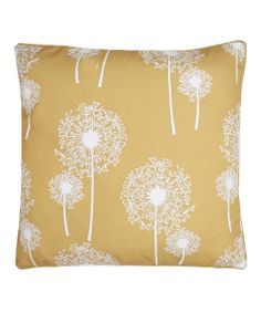 Samoan Sun Dandelion Glimmer Square Throw Pillow @Pascale De Groof