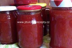 Rajčatová marmeláda | jitulciny-recepty.cz Salsa, Jar, Food, Red Peppers, Essen, Salsa Music, Meals, Yemek, Jars