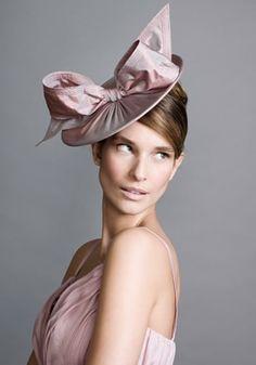 Rachel Trevor-Morgan Pink Taffeta Disc  £273.00 #hat #headpiece #millinery