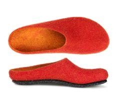 Slippers, Socks, Fashion, Felt Slippers, Girly Stuff, Winter, Gentleness, Felting, Handmade