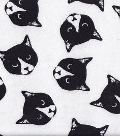 Snuggle Flannel Fabric-Monochome Cats