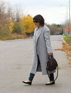 Minimalist Long Grey Coat ⋆ torontoshopoholic