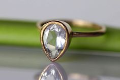 Unique Diamond Engagement Ring Settings | Teardrop Diamond Ring Review