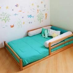 Toddler Floor Bed, Diy Toddler Bed, Toddler Rooms, Baby Bedroom, Baby Room Decor, Girls Bedroom, Bedroom Decor, Kids Room Design, Home Room Design