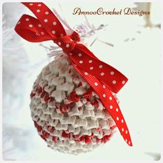 Annoo's Crochet World: Plarn Upcycled Xmas Ornament Free Tutorial