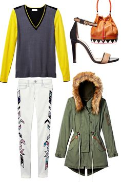 """Jacket, Capulet, $242, shopplanetblue.com. Sweater, 525 America, $88, 525america.com. Pants, Rebecca Minkoff, $298, rebeccaminkoff.com. Shoes, Club Monaco, $269, clubmonaco.com. Bag, Aldo, $55, similar styles available at aldoshoes.comThis article was originally published as """"6 Fall Trends to Try"""" in the September 2014 issue of Cosmopolitan. Click here to subscribe to the digital edition! -Cosmopolitan.com"""