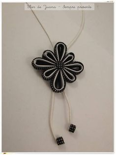 Paper Jewelry, Button Crafts, Origami, Pendant Necklace, Fabric, Cotton, Handmade, Yarn Flowers, Flower Necklace