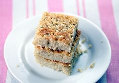 Lightly sweetened gluten free, grain free Coconut Bars contain good fats from heart healthy coconut oil.