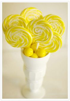 Decorations, Yellow Candy: Best Candy Centerpieces for Weddings
