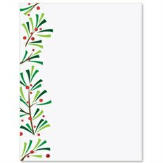 green sprigs specialty border papers holiday cards