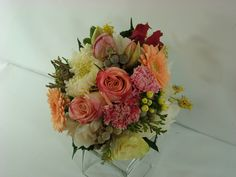 Bridal Bouquet with mix flowers.  Created by Plush Flowers.    Mississauga,ON