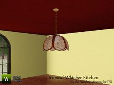 riccinumbers' Tropical Whicker Kitchen Light