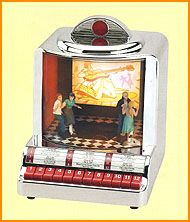 Image detail for -50's diner-style jukebox. Push a button to choose one of 12 songs ...