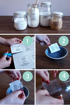 DIY labels for storage jars: Finally over the kitchen chaos (including Printable for free) - DIY Ideen - DIY Diy 2019, Farmhouse Style Decorating, Jar Storage, Diy Kitchen, Kitchen Labels, Kitchen Storage, Kitchen Ideas, Diy Organization, Free Printables