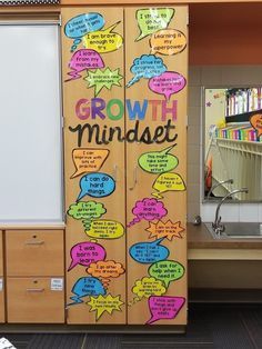MINDSET ACTIVITIES & BULLETIN BOARD DISPLAY I'm loving these growth mindset statements. We can all use a little extra positivity now and then. I'm loving these growth mindset statements. We can all use a little extra positivity now and then. 5th Grade Classroom, New Classroom, Classroom Design, Classroom Themes, Classroom Organization, Classroom Management, Classroom Bulletin Boards, Classroom Posters, Bulletin Board Ideas For Teachers