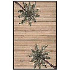 Shop for Hand-woven Palm Tree Rayon from Bamboo Rug (6' x 9'). Get free shipping at Overstock.com - Your Online Home Decor Outlet Store! Get 5% in rewards with Club O! - 11405787