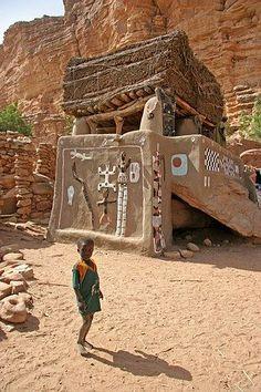 Mali, Bandiagara, togu-na du village d'Irély