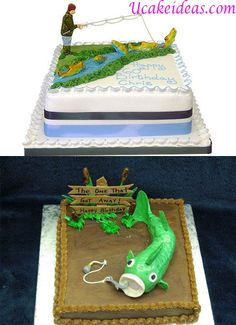 Float Tube Fishing Cake Fishing cakes Birthday cakes and Website