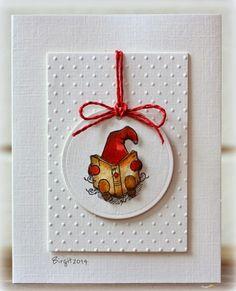 Dagens andra inlägg på Vilda Stamps blogg idag! Två enkla julkort blev det! Tycker tomtarna är så...