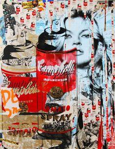 New Mr Brainwash Kate Moss Andy Warhol Spray postcard print pop art banksy mint Graffiti Art, Banksy Art, Bansky, Mr Brainwash, Urban Street Art, Urban Art, Amazing Street Art, Amazing Art, Citation Art