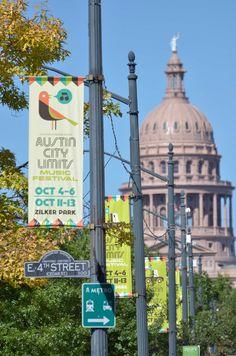 Ex. Lamppost banner on Congress Avenue