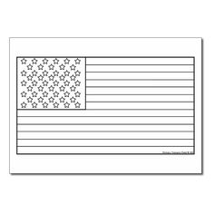 United States of America Flag Coloring Sheet Culture Class