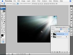 Learn Photoshop - How to Simulate a Ray of Light - YouTube