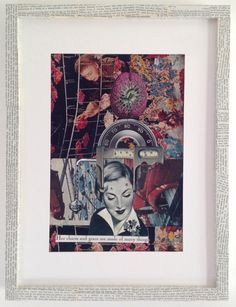 """""""Her charm and grace are made of many things"""" original picture available for sale on my website. Vintage, collage, mixed media, ephemera, memorabilia"""