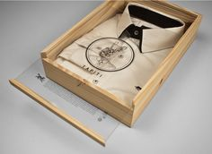 shirt packaging for Conto Figueira - looks expensive! That's our sort of packaging :) Packaging Box, Shirt Packaging, Clothing Packaging, Fashion Packaging, Brand Packaging, Fashion Branding, Design Packaging, Luxury Packaging, Retail Packaging