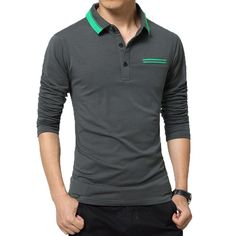 Be effective with this product Men Polo Shirt  L... and stop doubting yourself, see it on Costbuys http://www.costbuys.com/products/men-polo-shirt-long-sleeve-casual-grey-blue-cotton-man-polo-shirts-autumn-winter-fitness-male-pullover?utm_campaign=social_autopilot&utm_source=pin&utm_medium=pin