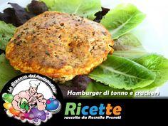 Hamburger di tonno e crackers