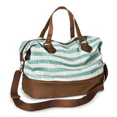 Mossimo Supply Co. Striped Weekender Duffle Handbag - Mint why why WHY do you have to be out of stock?!?!?