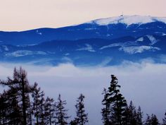 Kralova Hola, Slovakia. Winter and snowy mirages