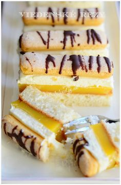 viedenske rezy Slovak Recipes, Czech Recipes, Desert Recipes, Creative Food, Nutella, Sweet Recipes, Food To Make, Sweet Tooth, Deserts