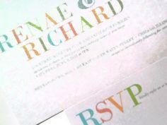 Large Text 5x7 wedding invitation | panachedesign - Cards on ArtFire