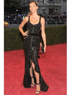 Gisele Bundchen in Givenchy at the Met Gala.  This is probably my favorite dress I've EVER seen on a celeb at a red carpet event!!