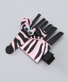 Take a look at this Pink Zebra Clip by Bubbly Bows on #zulily today!