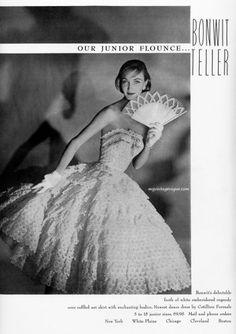 Evelyn Tripp for Bonwit Teller, 1955.