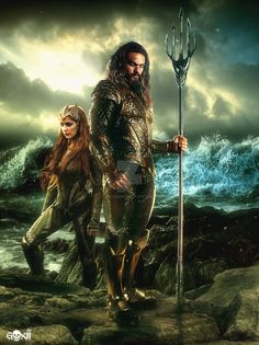 Justice League / Aquaman  and Queen Mera Poster by GOXIII.deviantart.com on @DeviantArt