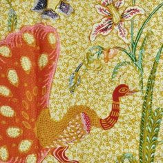 Peacock print on Peranakan batik..lovely colour combinations.