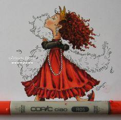 heidys,scrappies: Het Kleuren van plooien met mijn favoriete kleur rood COLORING WITH RED